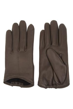 深灰色皮质短款手套