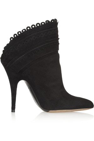 Harmony 扇贝形绒面革及踝靴