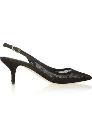 蕾丝露跟高跟鞋