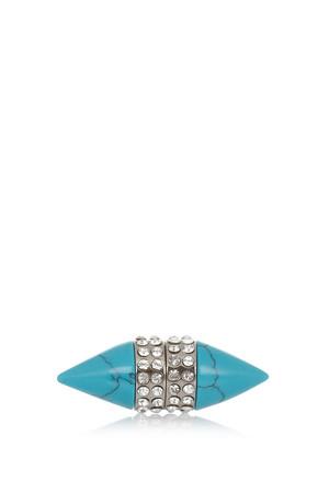 Small Double Cone Shark 人造绿松石耳钉