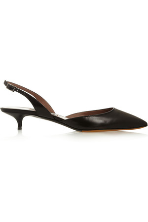 Lily 皮革露跟鞋