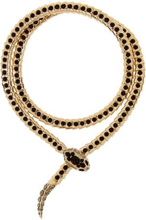 施华洛世奇水晶金色绕颈项链