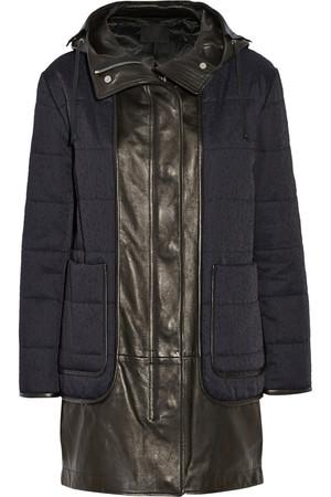 仿旧棉质混纺斜纹布派克大衣