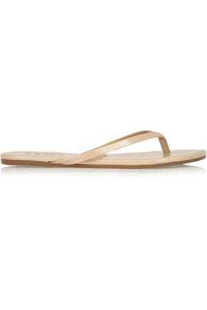Lily 漆皮夹趾凉鞋