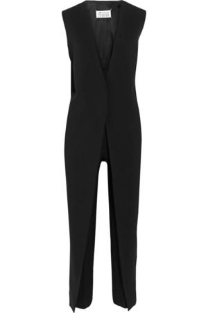 羊毛混纺绉纱连身裤