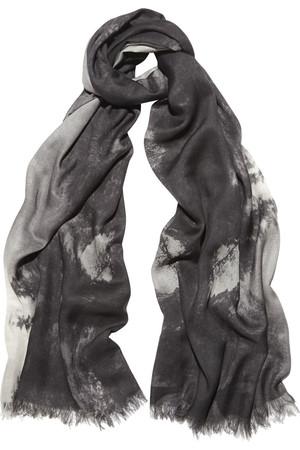 Hampstead 印花莫代尔真丝混纺围巾