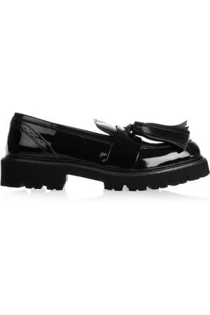 漆皮乐福鞋