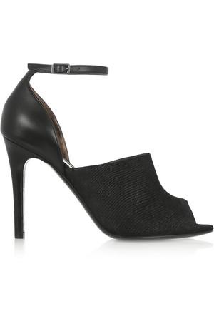 仿蜥蜴纹皮革凉鞋