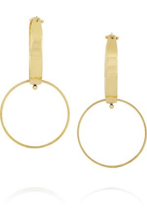 18K 黄金耳环