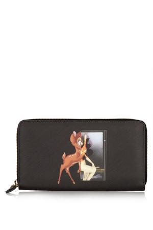 Bambi 纹理人造皮革钱包