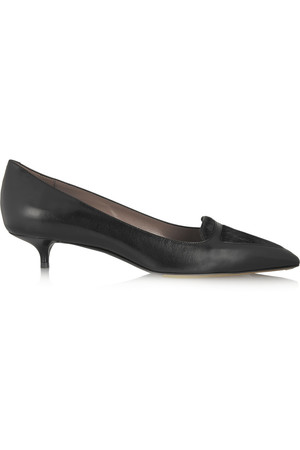 Hallie 小牛毛拼接皮革中跟鞋
