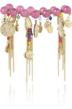 Everest 多宝石浸镀金手链