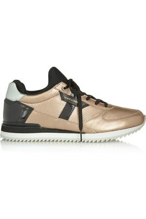 Nigeria 金属色皮革和漆皮运动鞋