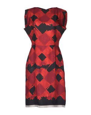 红色 VIONNET 及膝连衣裙