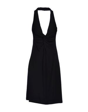 黑色 D.A. DANIELE ALESSANDRINI 中长款连衣裙