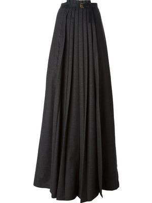 VIONNET front pleated skirt