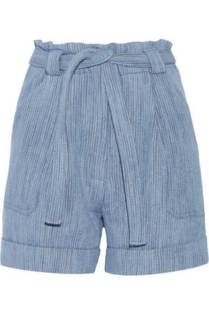Kelcalme 配腰带棉质混纺短裤