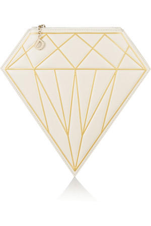D - Diamond 皮革手拿包