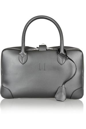 Equipage 小号金属感皮革手提包