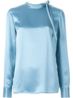SALVATORE FERRAGAMO bow collar top