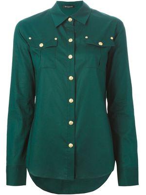 BALMAIN patch pocket shirt