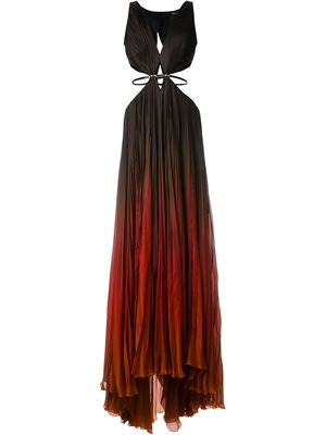 ROBERTO CAVALLI cut-out ombre long dress
