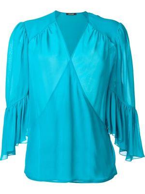 ROBERTO CAVALLI wrap blouse