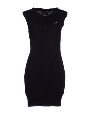 深紫 FRED PERRY 短款连衣裙