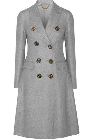 双排扣羊绒外套