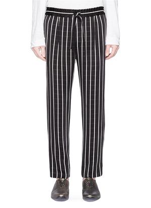 拼色条纹休闲裤