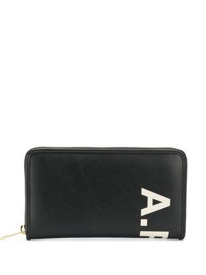 A.P.C. logo wallet - Black