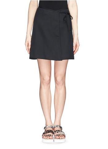 裹身式纯棉短裙