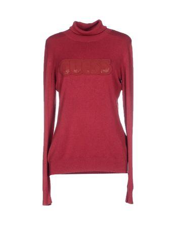 砖红 GUESS 圆领针织衫