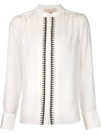 VANESSA BRUNO embroidered pleated shirt