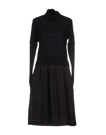 黑色 ALMERIA 及膝连衣裙