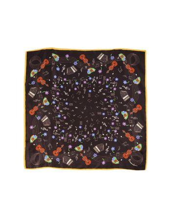 深棕色 BRACCIALINI 方巾