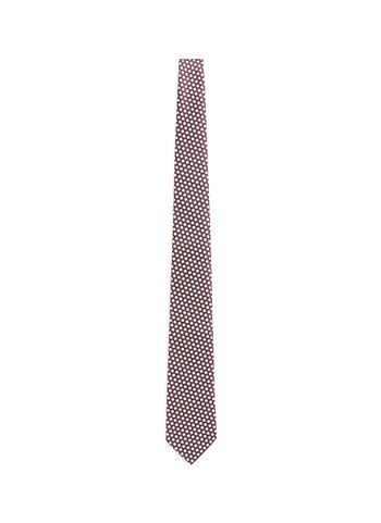 拼色六边形真丝领带
