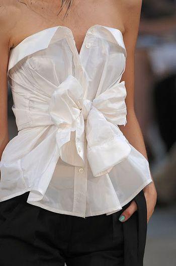 将白衬衣改成抹胸