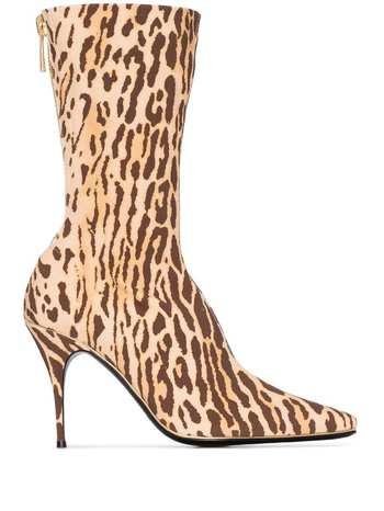 Zimmermann animal print mid-calf boots - Brown