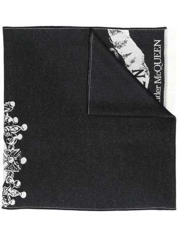 ALEXANDER MCQUEEN Royal banner scarf - Black
