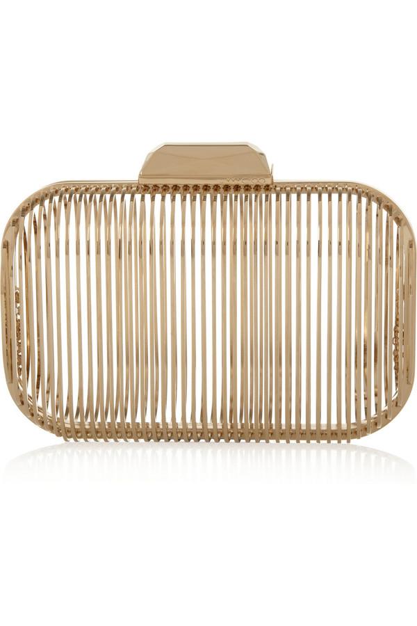 金色笼状手拿包
