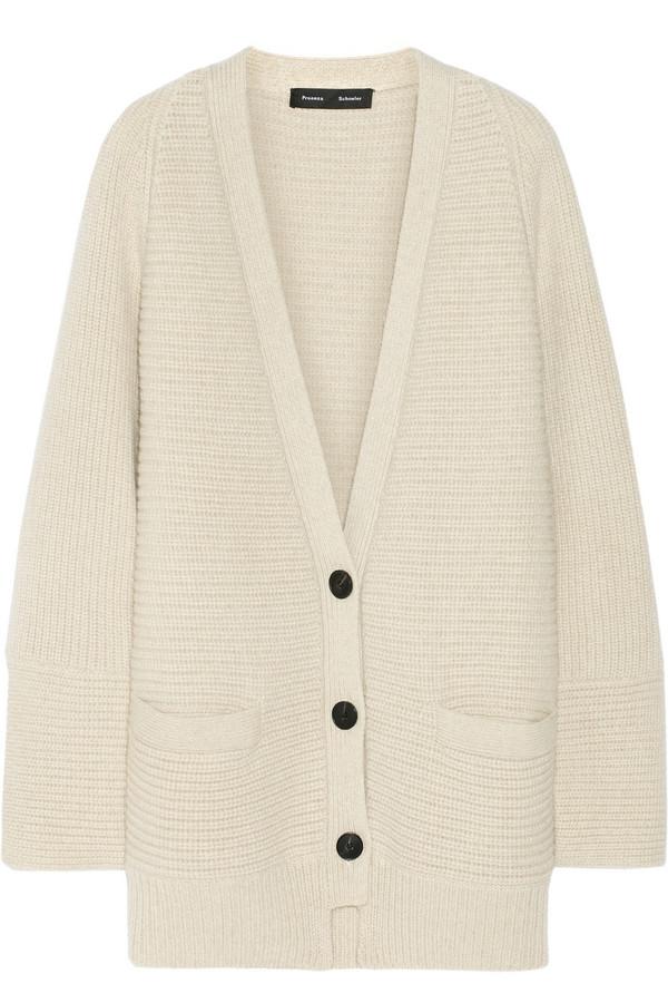 羊毛羊绒混纺开襟衫