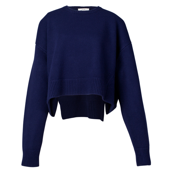 Céline2013年秋冬蓝色短款毛衣