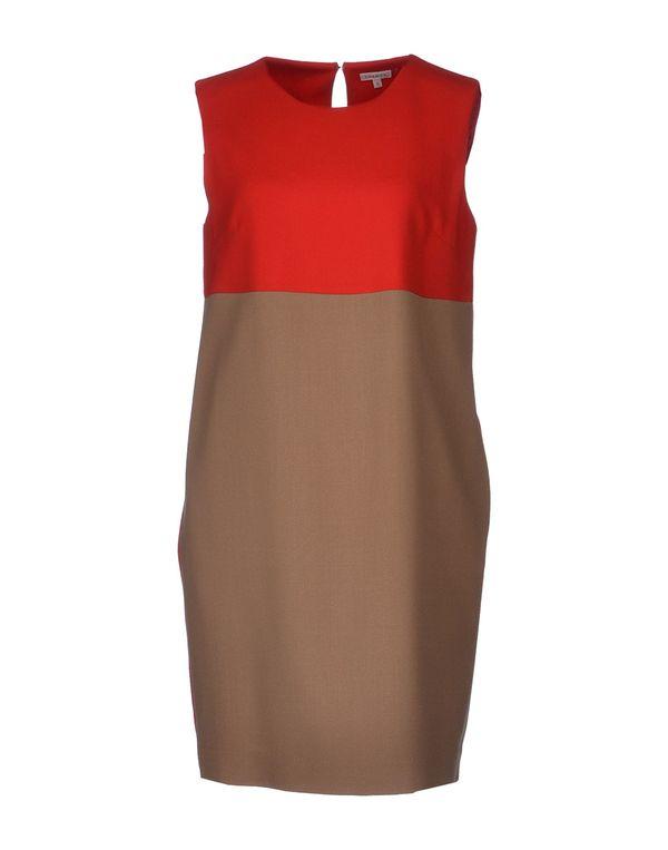 卡其色 P.A.R.O.S.H. 短款连衣裙