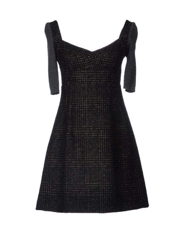 棕色 DOLCE & GABBANA 短款连衣裙