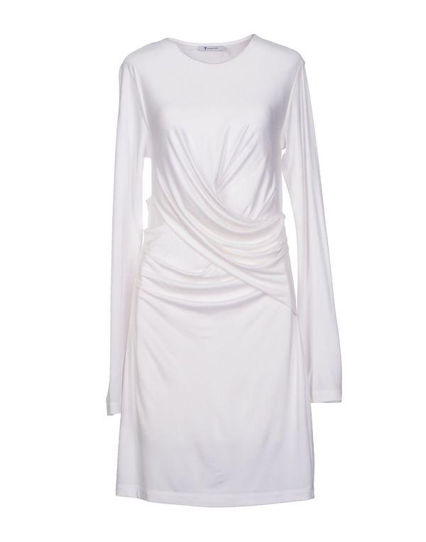 白色 T BY ALEXANDER WANG 短款连衣裙