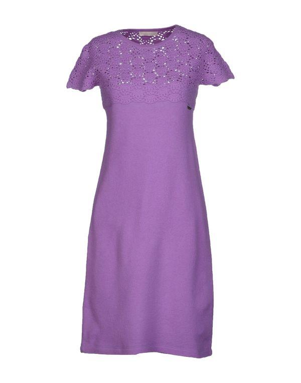 丁香紫 SCERVINO STREET 短款连衣裙
