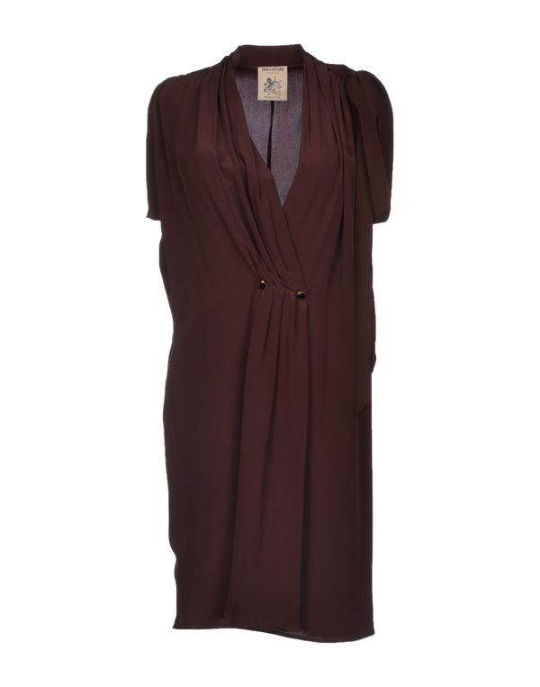 巧克力色 SEMI-COUTURE 及膝连衣裙