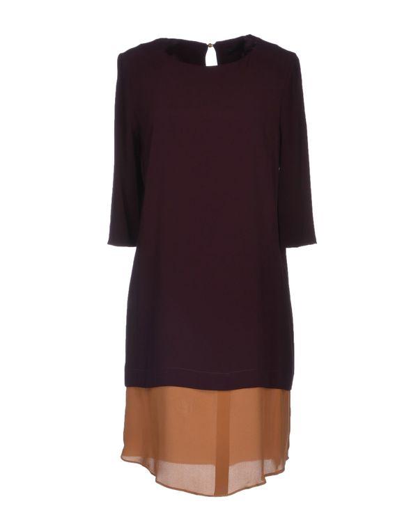 深紫 PINKO BLACK 短款连衣裙