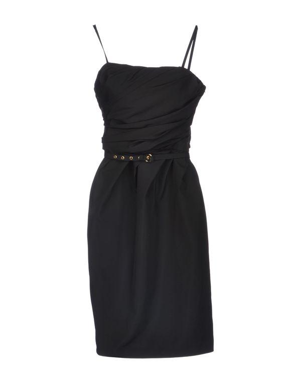 黑色 MOSCHINO CHEAPANDCHIC 及膝连衣裙